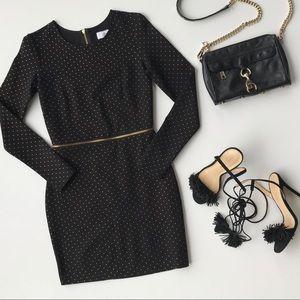 Dolce Vita Bing Gold Dots Zip Bodycon Dress
